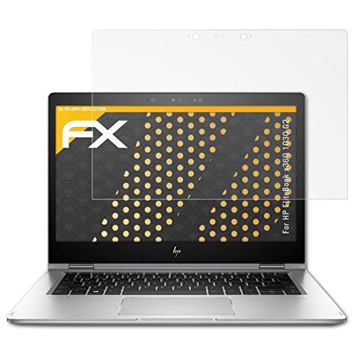 HP EliteBook x360 1030 G2 Displayschutzfolie - 2 x atFoliX FX-Antireflex blendfreie Folie Schutzfolie