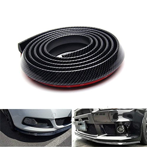 g Frontspoiler, Lypumso Selbstklebend Frontspoilerlippe Spoiler Lippe aus Kohlefaser für Auto PKW Kfz (Black) ()