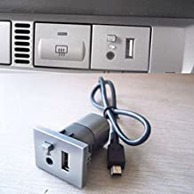 Coche 2 en 1 AUX + Botón ranura USB con cable mini USB para Ford Focus 2009-2013