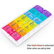 Pill Organizer,Myguru 7-Day AM PM Weekly Pill Case Box with 14 Compartments to Hold Medication