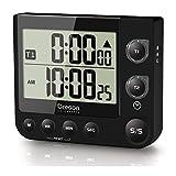 Oregon Scientific TW331_BK - Cronómetro / Temporizador de Cocina con Dos Canales con Reloj y Alerta Visual LED