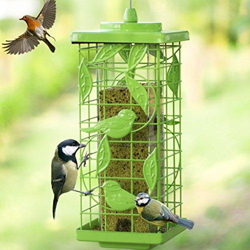 Draussen Vogel Zubringer Hängend Gazebo Wild Vogel Automatisch Zubringer Perfekt Für Den Garten Dekoration Und Vögel Beobachten Zum Vogelfreund. Cacoffay,Green