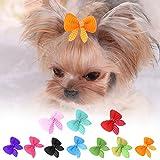 Ahomi 10PCS cute Pet Dog Cat forcina beauty Supplies fiocchi Pet capelli clip copricapo