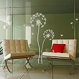 Fensterfolie Pusteblumen Set - Große Blume 160 x 50cm, kleine Blume 110 x 40cm - Farbe: Glasdekor