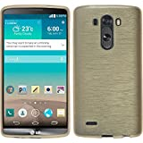 PhoneNatic Coque en Silicone pour LG G3 - brushed or - Cover Cubierta + films de protection