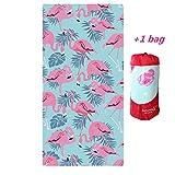 Strandtücher Badetuch Schnell Trocknend 100% Microfiber Flamingos Strand Handtuch Badetuch Picknickdecke für Strand, Freizeit,Reisen Surfen Yoga 70 * 150CM (C)