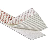 Bianco Chiusura in Velcro®–Gancio e Loop autoadesivo Nastro Adesivo, larghezza 20mm (Prezzato e venduto al metro, modificare la quantità nel carrello per visualizzare la lunghezza necessaria)