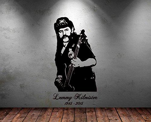 Groß Lemmy Motorhead Rock Guitar Legend gratis Rakel Vinyl Aufkleber Aufkleber Art, Orange, Large - 113cm H x 58cm W