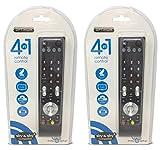 Set di 2 telecomandi universali per TV satellitare, cavo 4 in 1, DVD-T, LCD, Plasma, DVD, Blu-Ray, Audio, Sky, Sky+ Plus, funziona con la maggior parte delle marche