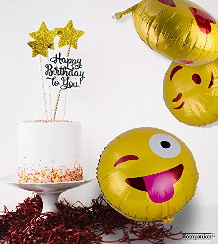 Emoji Party Ballons 25 Pack Party Ausstattung, Packung mit Verschiedenen Emoticon Helium Ballons - 4