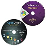 GParted Festplatten Manager, Partitionseditor + OpenOffice Premium Edition für Windows 10-8-7-Vista-XP (32 & 64) Bit [2 CDs Spar-Set]
