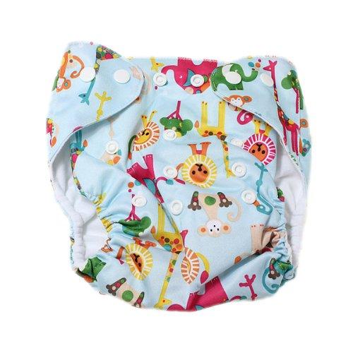 SODIAL(R) Baby Windel Stoffwindel ueberhose Windelhose Verstellbar Trainingshoeschen Mehrweg(Windel nicht in der Verpackung)