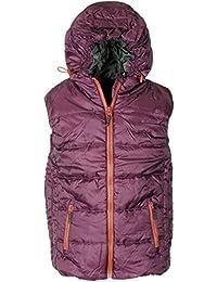 Men's Sam Hooded Gilet Zip Pocket Bodywarmer Padded Sleeveless Jacket Size