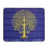TEC Blue Mousepad Tree Warli