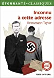 Inconnu a cette adresse by Kathrine Kressmann Taylor(2012-04-05) - Editions Flammarion - 01/01/2012