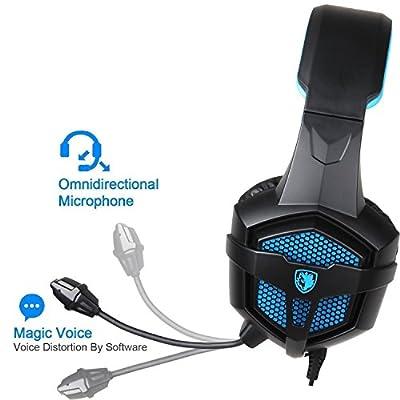 Cuffie Gaming con Microfono Regolatore di Volume per PS4 XBOX ONE, Stereo Bass Noise Cancelling 3.5mm Gioco Video Cuffia Gaming per PS4 PC Mac Laptop Tablet Smartphone