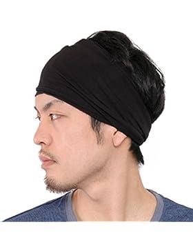 Casualbox Hombre Elástico Bandana Cinta Para El Pelo Venda Japonés Largo Cabello Rastas Cabeza Envolver