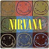 Nirvana Smiley Blocks Steel Metal Fridge Magnet Album Band Logo Icon Official