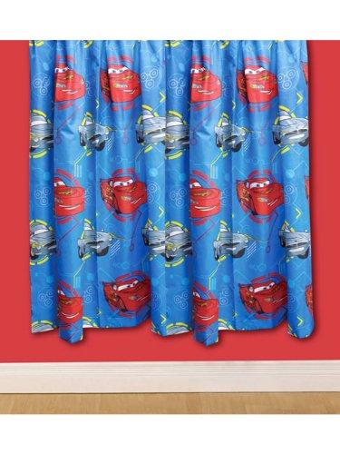 Original Disney Pixar Cars 2 SPY 2 Stück Fertig-Gardinen/Vorhänge-Set je 138 cm lang und 168 cm breit, blau