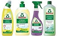 Combo Family Monthly Pack ( Lemon Toilet Bowl Cleaner, Citrus Dish Wash, Lavender Sanitizing spray & pH neutral cleaner)