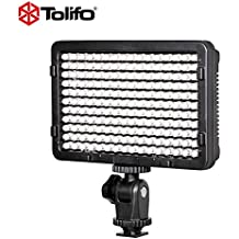 Tolifo LED Camera Video Light with Power Adapter Kit for Canon Nikon DSLR Cameras and others