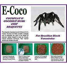 ORGANIC SUBSTRATE SOIL BEDDING FOR BRAZILIAN BLACK TARANTULAS (GRAMMOSTOLA PULCHRA) FOR SPIDER TANK, ENCLOSURE, VIVARIUM, TARANTULA VIVARIA - NATURAL ALTERNATIVE TO VERMICULITE, PEAT, WOOD SHAVINGS AND BARK CHIP - COMPRESSED BRIQUETTE (80 LITRES)