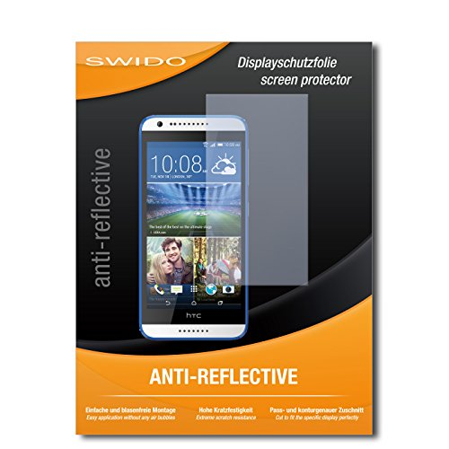 SWIDO Bildschirmschutz für HTC Desire 620G Dual SIM [4 Stück] Anti-Reflex MATT Entspiegelnd, Hoher Härtegrad, Schutz vor Kratzer/Glasfolie, Schutzfolie, Bildschirmschutzfolie, Panzerglas Folie