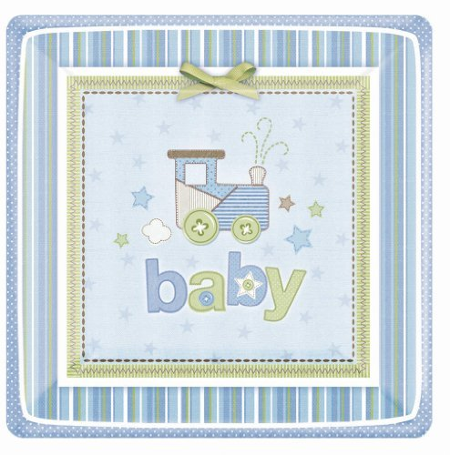 Amscan Carters Baby Boy Square Dessert Plates (Baby Boy Carters)