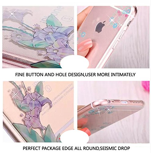 DBIT Haute Qualité Encre Flower pattern Housse Claire TPU Étui Anti-Scratch Soft shell pour Apple iPhone 6 Coque iPhone 6s Phone Sacs Transparent Sunflower Cage Rose Flower