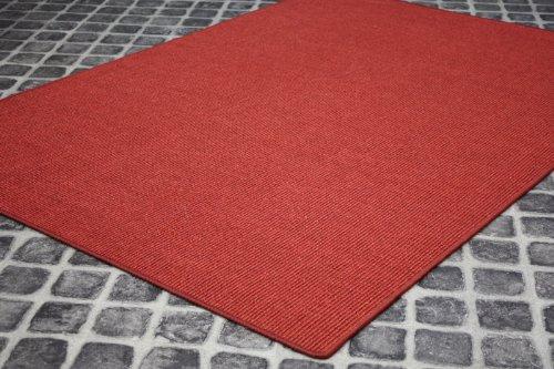 *Sisal Teppich Manaus gekettelt Rot 11 in Wunschgröße*