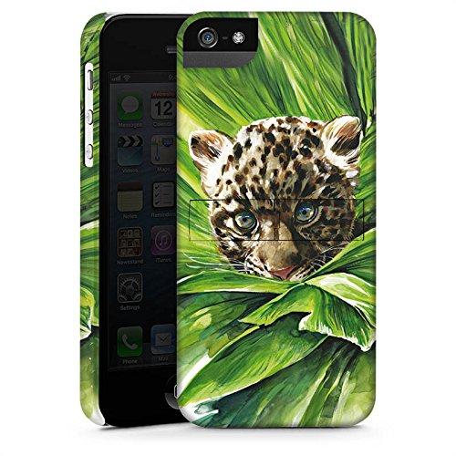 Apple iPhone X Silikon Hülle Case Schutzhülle Leoparden Baby dschungel Raubtier Premium Case StandUp