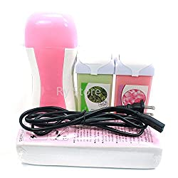 UBO 4 in 1 Green Tea Rose Taste 100g Wax Carriage , Pink Color Roll on Roll-on Refillable Depilato Wax Heater. . . , USA