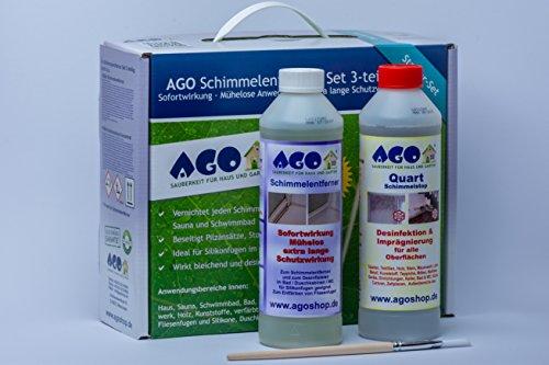 AGO Schimmelentferner + Schimmelstop Set 3tlg. Stärkstes