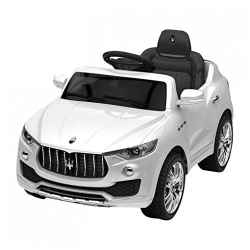 Mondial Toys AUTO ELETTRICA PER BAMBINI 6V 2 MOTORI CON TELECOMANDO SPORTELLI APRIBILI MASERATI LEVANTE SUV BIANCA