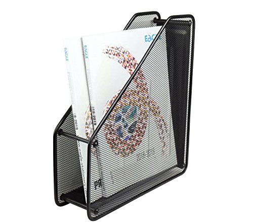 1 Tire Metal mesh Folder/File Rack/Magazine/Book Stand/Document Holder for Office Desk - Black