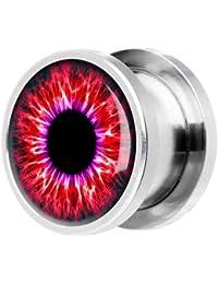 KULTPIERCING Tunnel Chirurgenstahl Flesh Rot Eye AMZ141