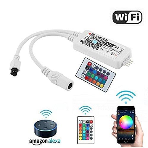 Opard RGB Led Streifen Kontroller,Wifi/App gesteuert,Dimmer Ausgang 3 Kanäle Arbeiten für Android/IOS System 5V-28V 16 Millionen Farben,20 Dynamische Modi,Sound Aktiviert Sound Aktiviert Led-licht
