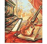CYKEJISD Puzzle Adulte 1000 Pièces Musique De Violon Et Guitare Rétro Vintage Bricolage Puzzle en Bois Classique Puzzle 3D Puzzle