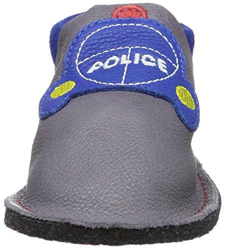 Pololo Pololo Kiga Polizei, chaussons d'intérieur garçon Gris