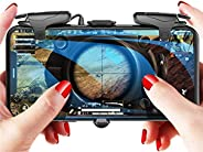 PUBG Mobile Controller, 16 Shots per Second Auto High Frequency Click Mobile Gaming Controllers for PUBG/Fortn