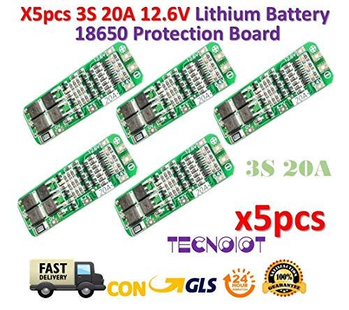 20 Amp 2 Bank (TECNOIOT 5pcs 3S 20A 12.6V Li-ion Lithium 18650 BMS PCM Battery Protection Board)