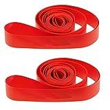 Ultimate Hardware 700c / 29er Bike Wheel Rim Tape Strips - Red (Pair)