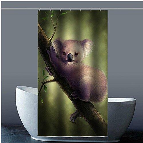 Brauch Koala 100% Polyester Fabrik Duschvorhang Shower Curtain 90 Zentimeters x 183 Zentimeters