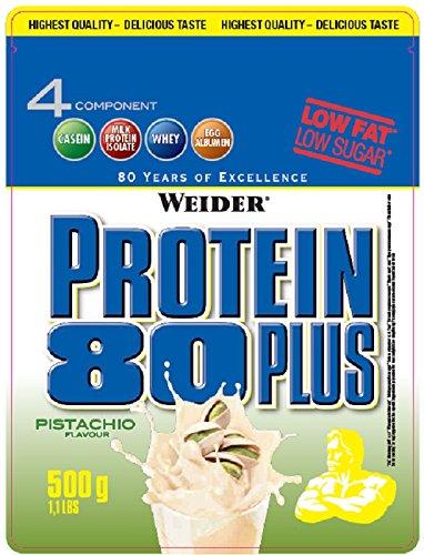 Weider, 80 Plus Protein, Pistazie, 1er Pack (1x 500g)