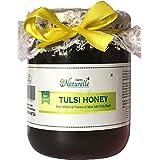 Farm Naturelle-Virgin Raw Natural Unprocessed Tulsi Forest Flower Honey - 700 Grams Glass Jar (Ayurved Recommended)-Huge Medicinal Value