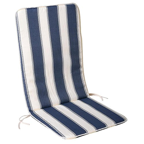 Saturnia 8097500 Blu / cuscino bianco sedia recl.110x48x25