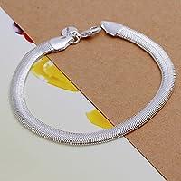 70e648cbff9b joyliveCY 2018 la moda mujer elegante 925 bañado en plata joyas pulsera  soporte de suave Serpiente de hueso fresco