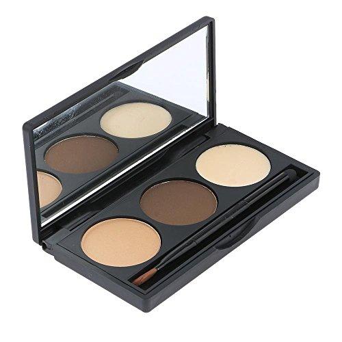 MMRM Nuevo 3 colores Concealer fundación paleta crema de maquillaje Kit de polvo de cepillo de espejo__2