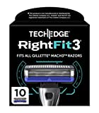 """""""TECHEDGE® RIGHTFIT3® – 10 LAMES PREMIUM COMPATIBLES AVEC MACH3®*"""""""