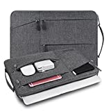 WIWU 15-15,6 Zoll Laptop Sleeve für MacBook Air/Pro Retina Ultrabooks Hülle Tasche Multifunktionale Aktentasche mit Vordertaschen Klassik Nylon Schutzhülle (Grau 15 Zoll)